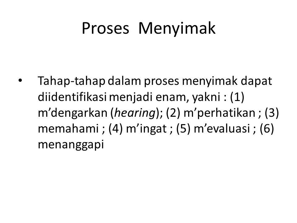 Proses Menyimak