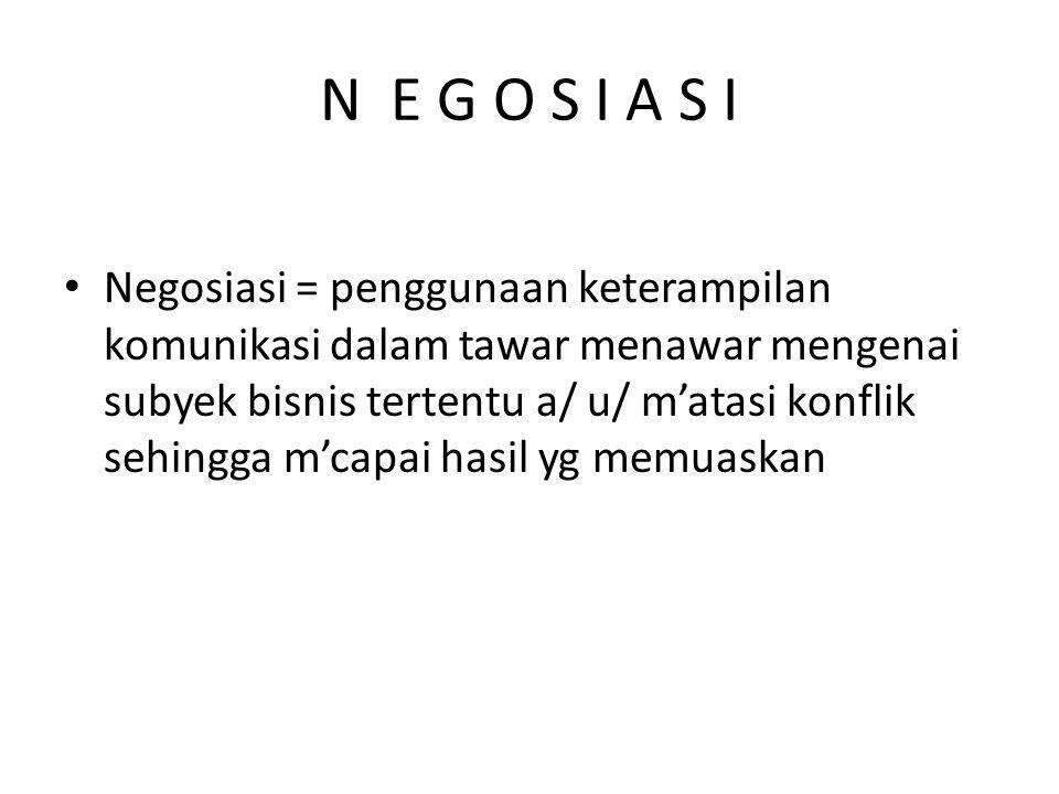 N E G O S I A S I