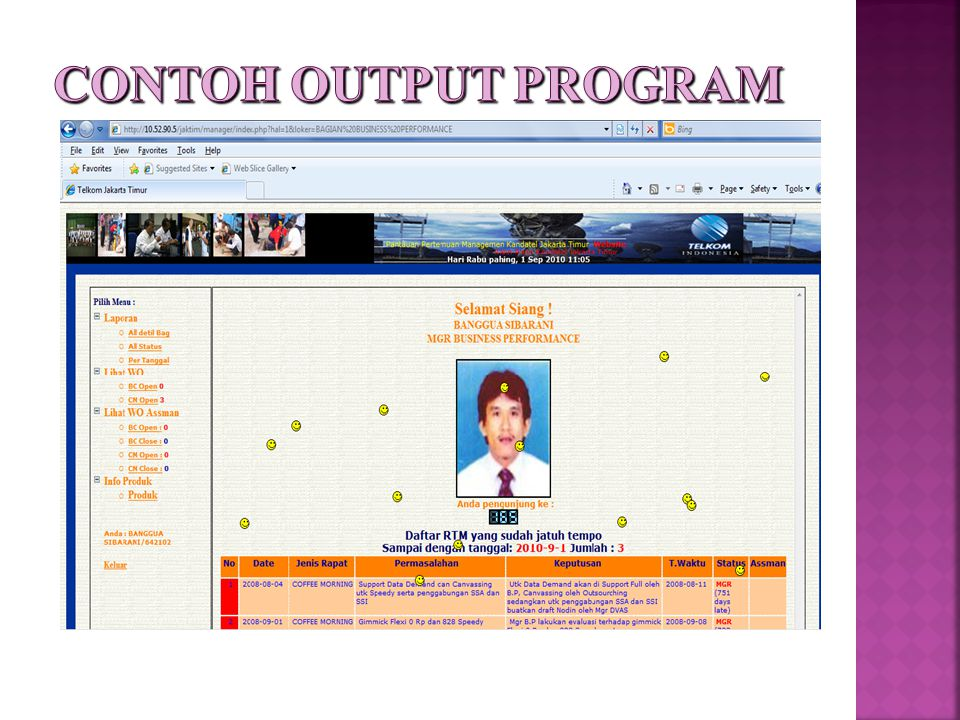 CONTOH OUTPUT PROGRAM