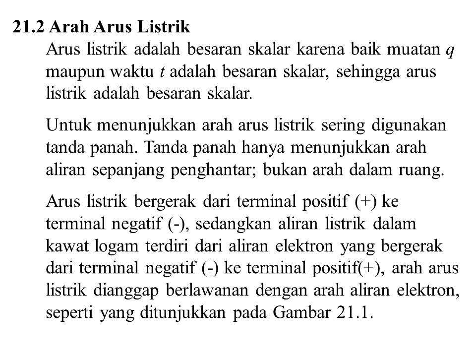 21.2 Arah Arus Listrik