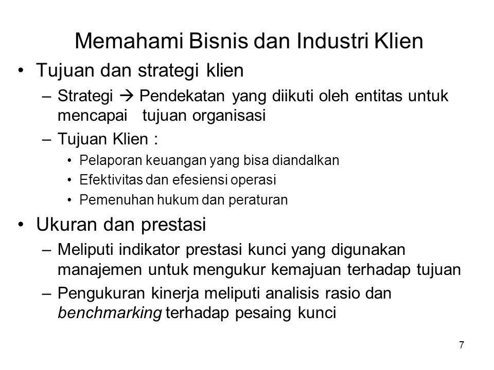 Memahami Bisnis dan Industri Klien