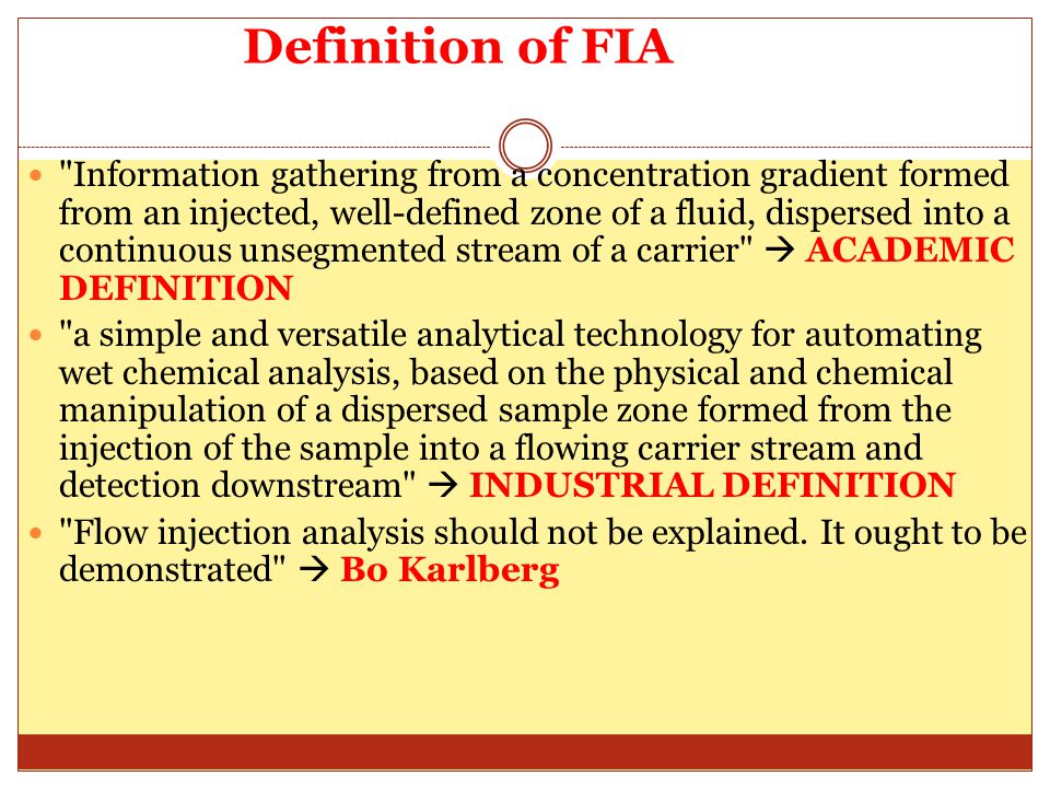 Definition of FIA