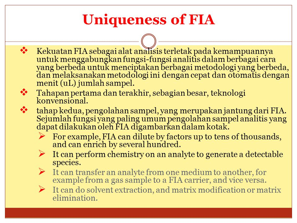 Uniqueness of FIA