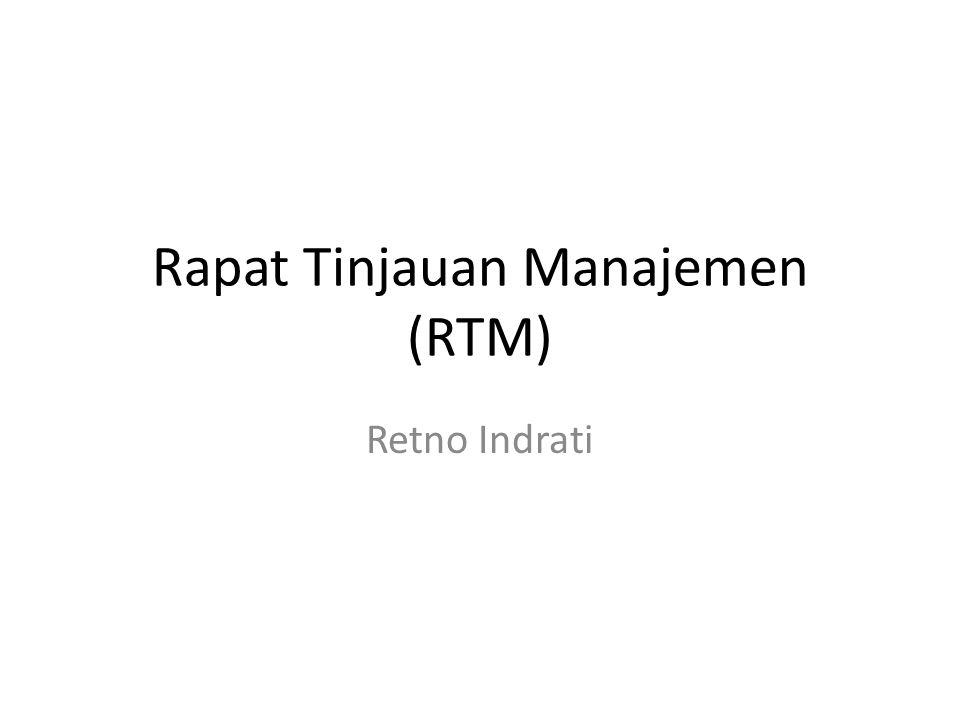 Rapat Tinjauan Manajemen (RTM)