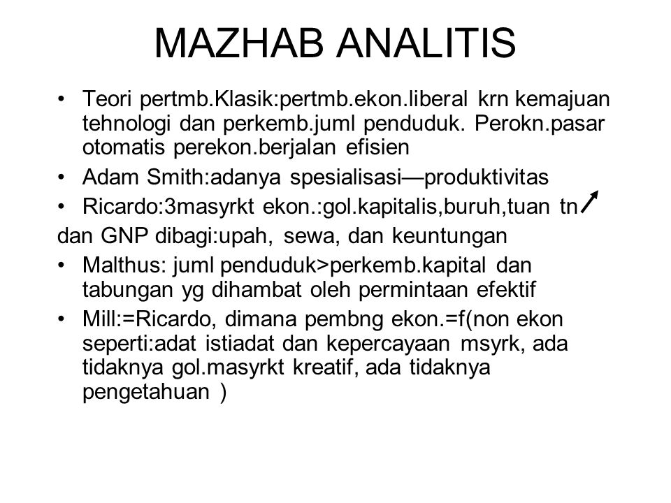 MAZHAB ANALITIS