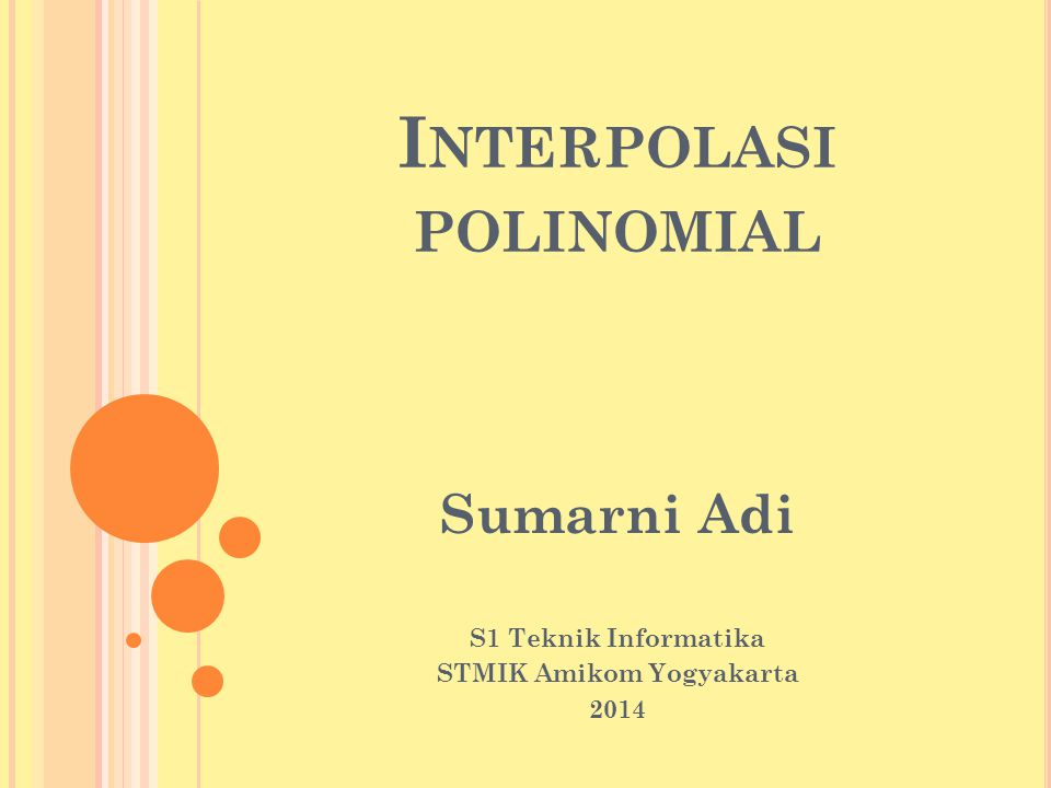 Interpolasi polinomial