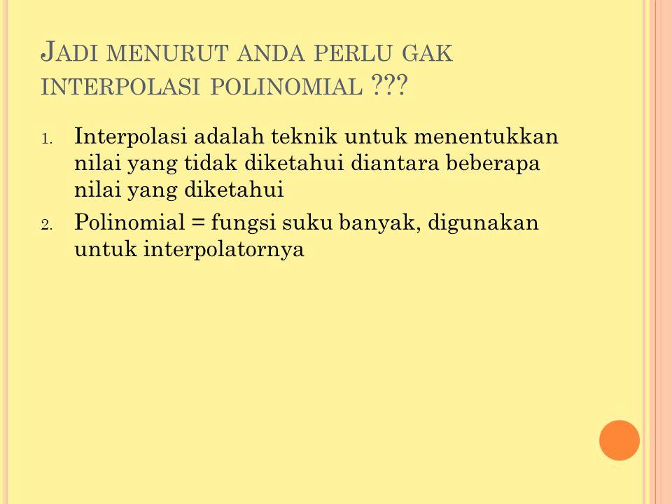 Jadi menurut anda perlu gak interpolasi polinomial