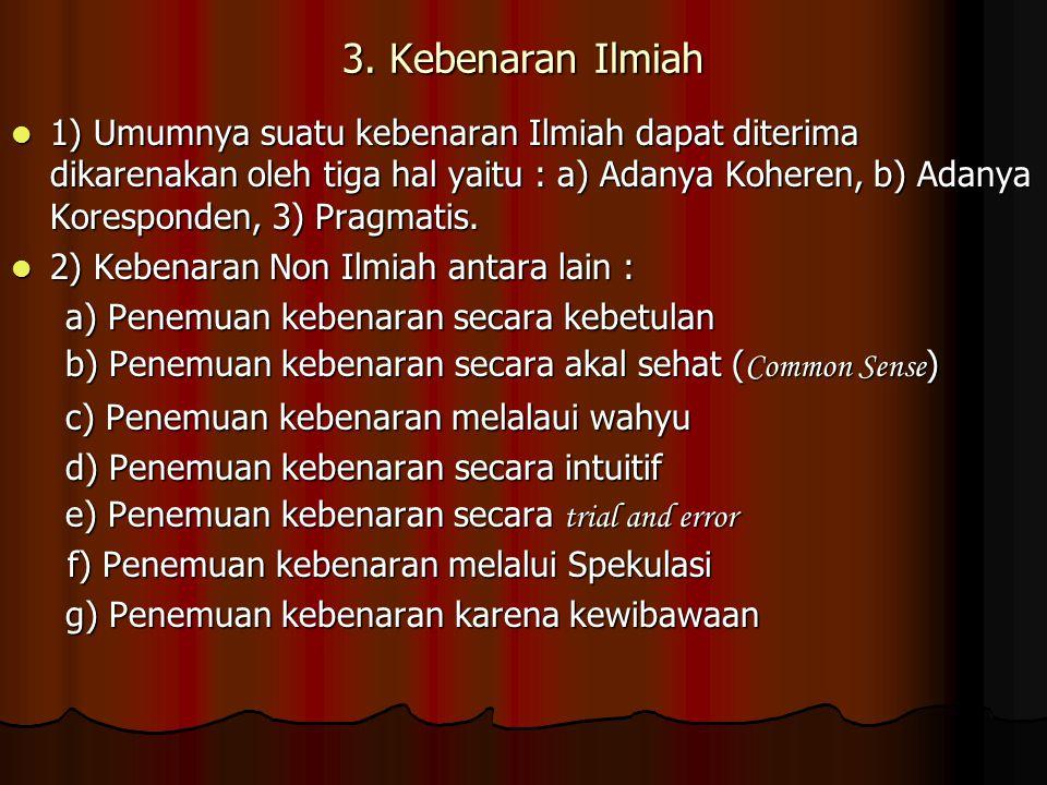 3. Kebenaran Ilmiah