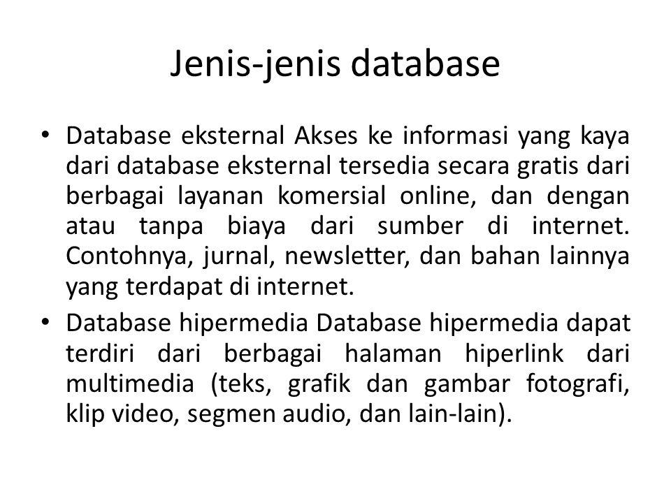 Jenis-jenis database