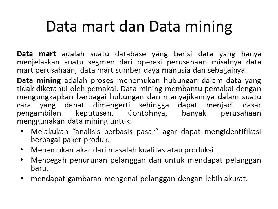 Data mart dan Data mining