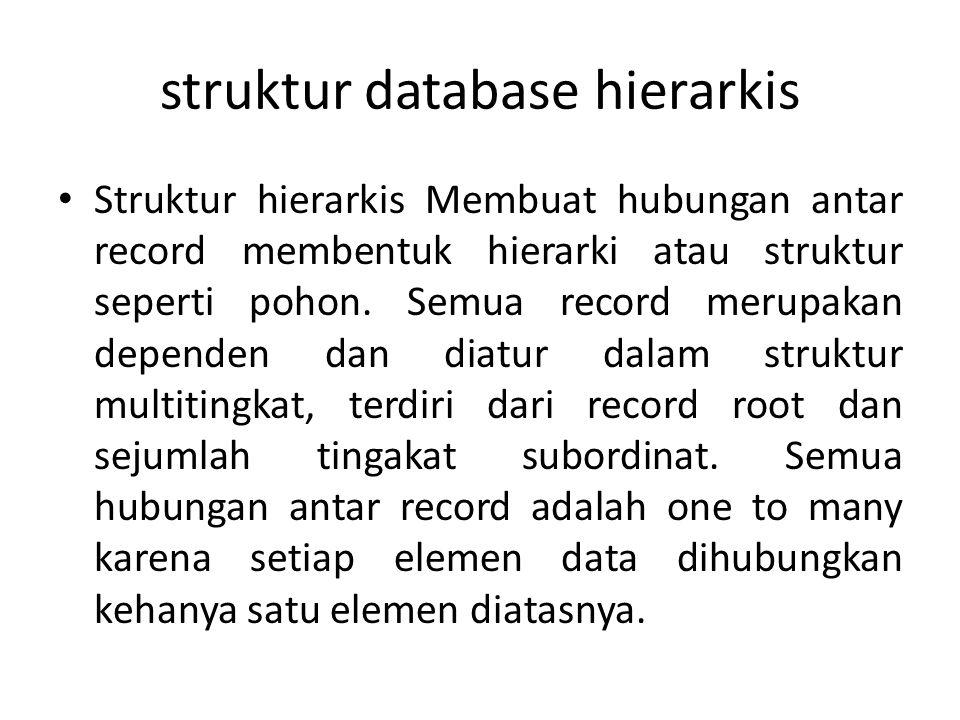 struktur database hierarkis