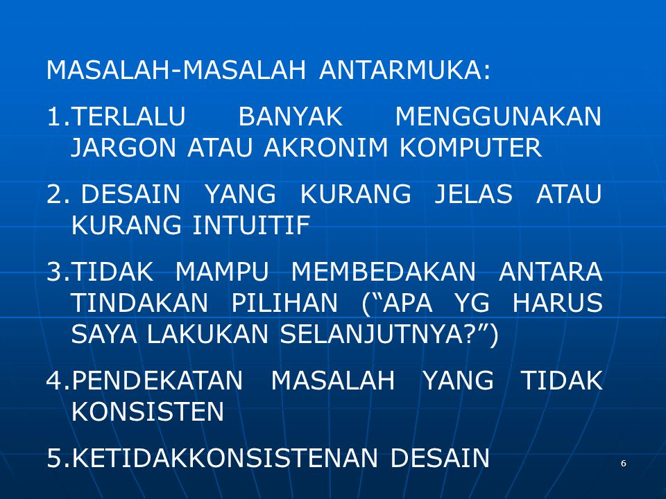 MASALAH-MASALAH ANTARMUKA: