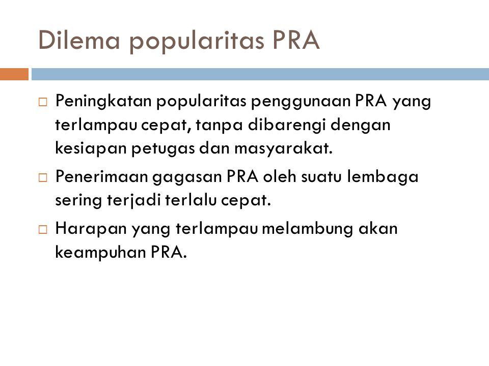 Dilema popularitas PRA