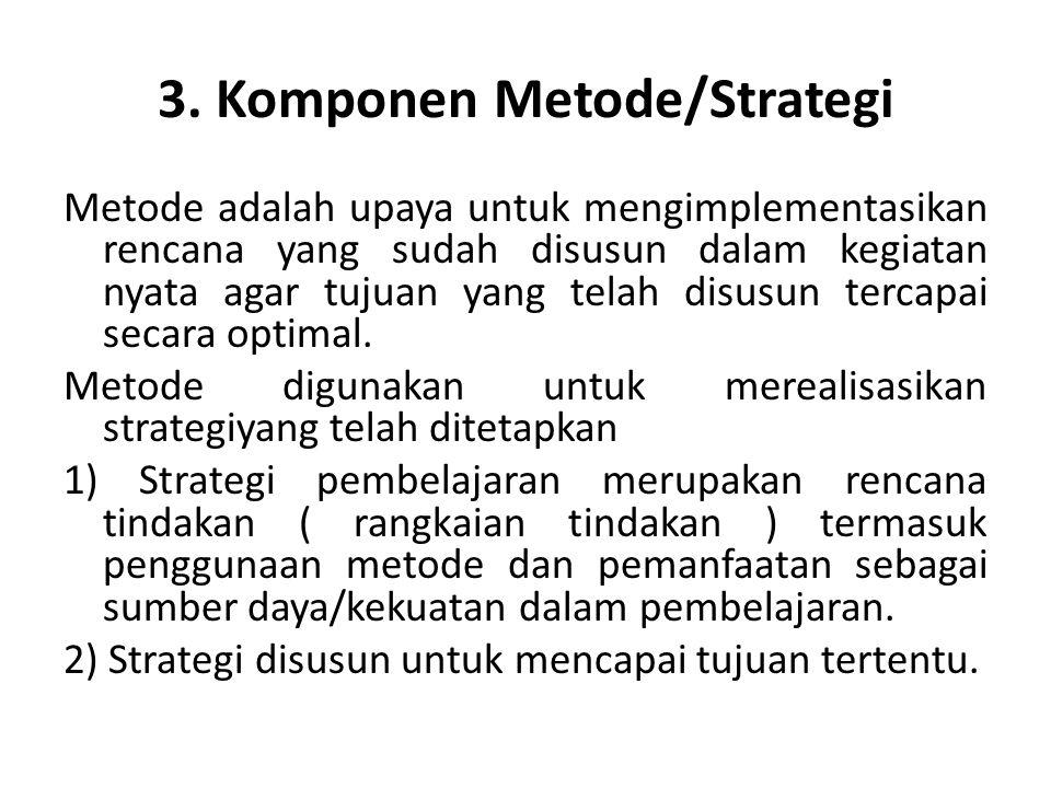 3. Komponen Metode/Strategi