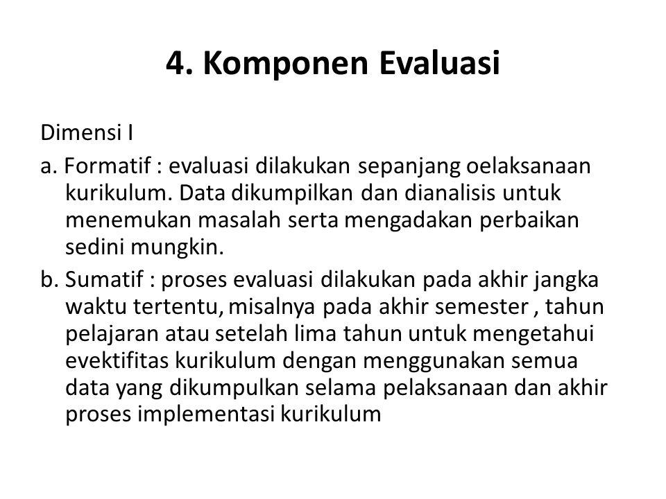 4. Komponen Evaluasi Dimensi I