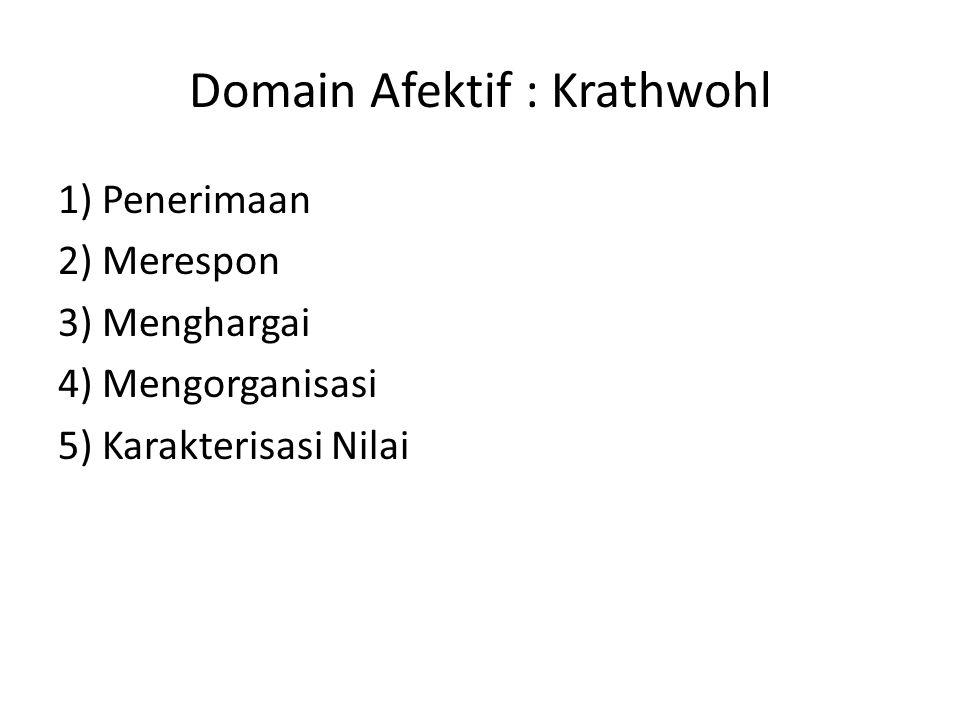 Domain Afektif : Krathwohl