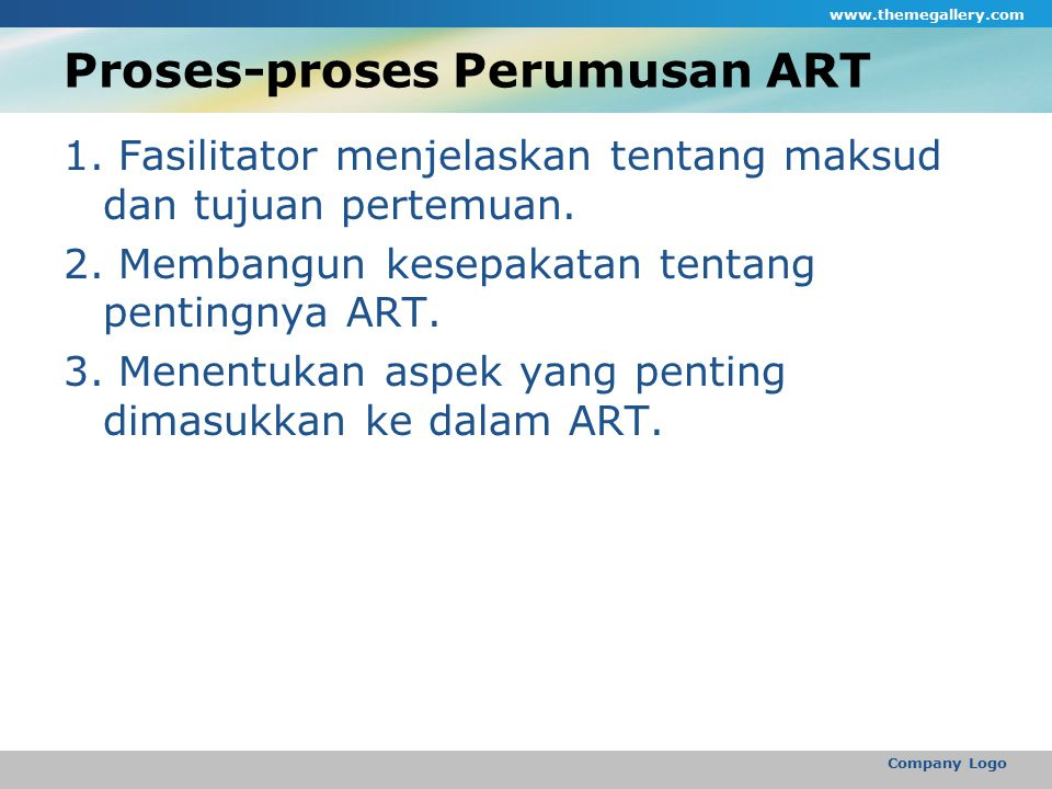 Proses-proses Perumusan ART