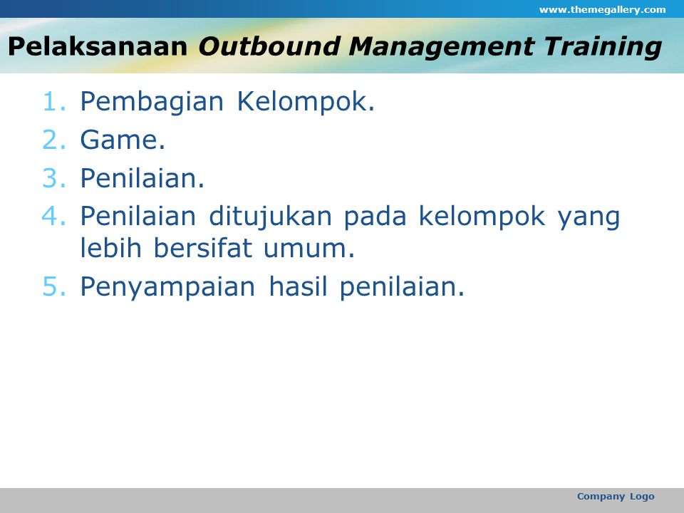 Pelaksanaan Outbound Management Training