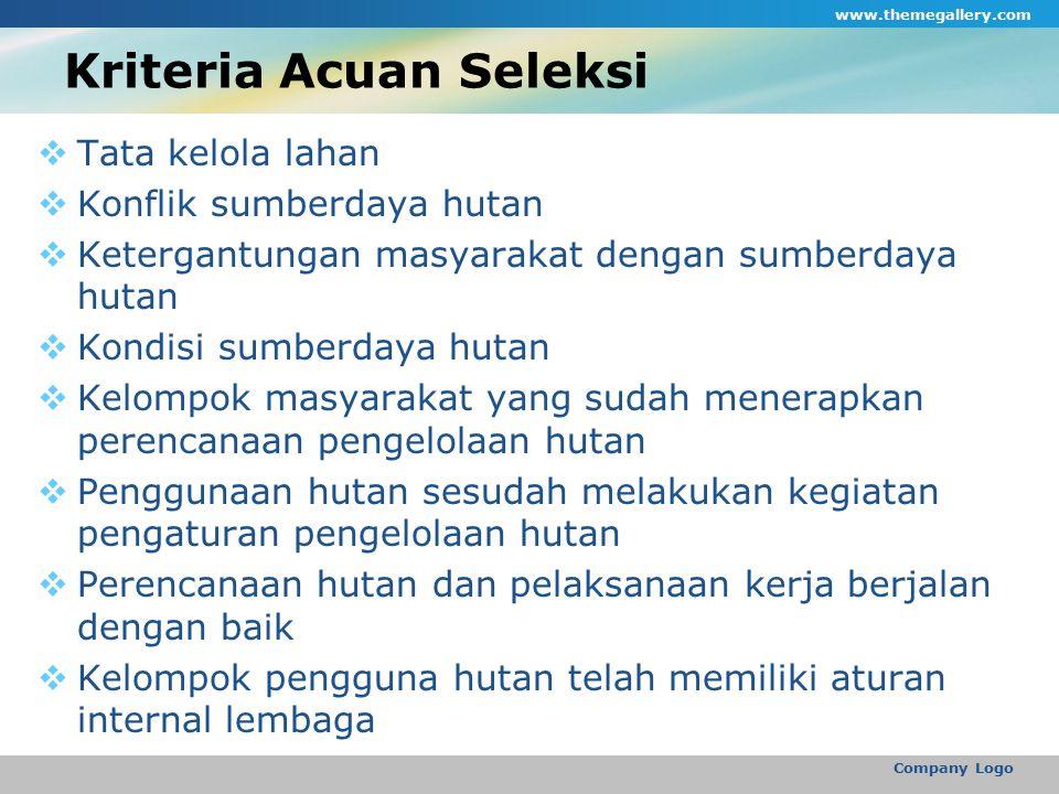 Kriteria Acuan Seleksi