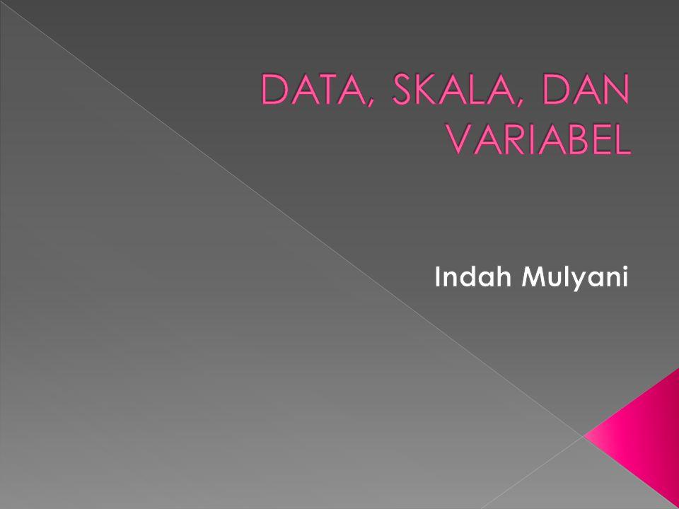 DATA, SKALA, DAN VARIABEL