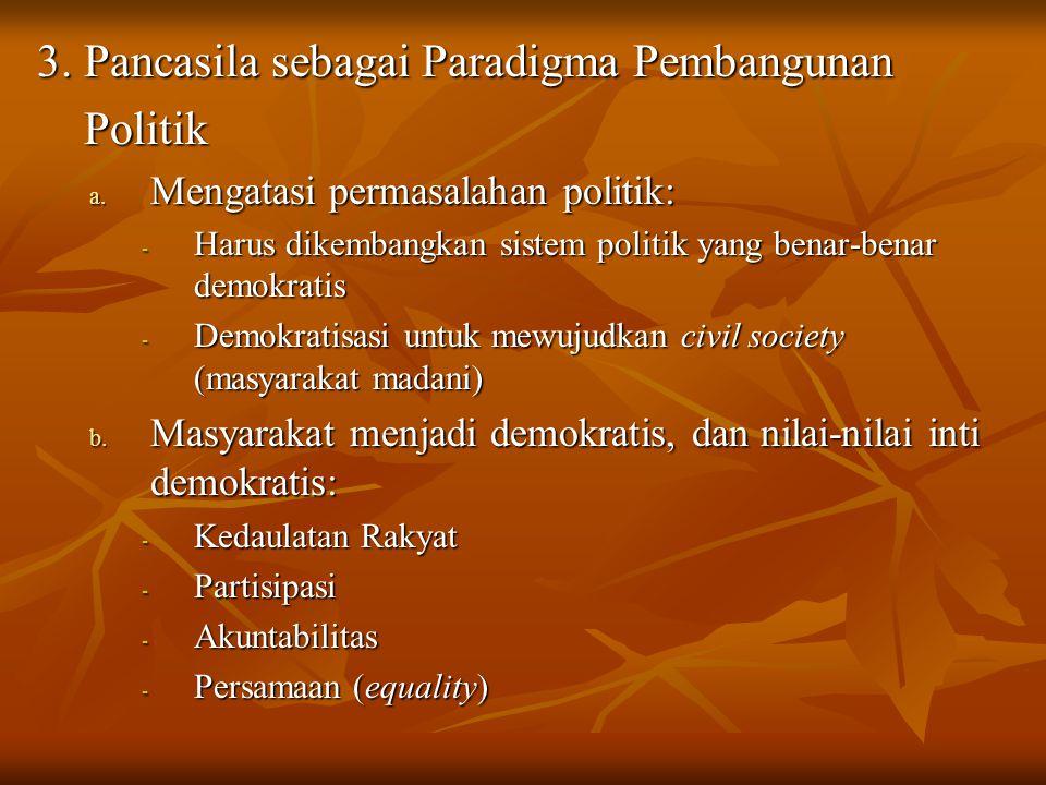 3. Pancasila sebagai Paradigma Pembangunan Politik