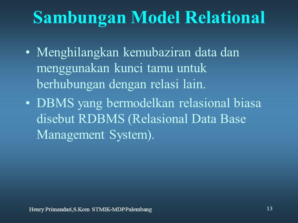 Sambungan Model Relational