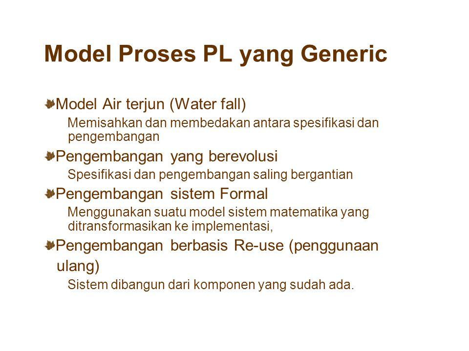 Model Proses PL yang Generic