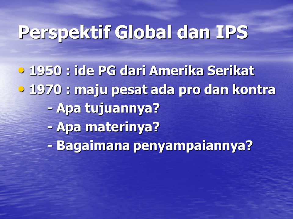 Perspektif Global dan IPS