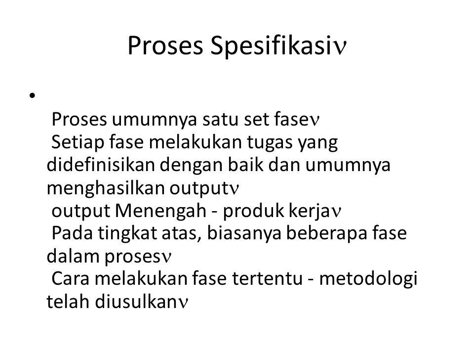 Proses Spesifikasi