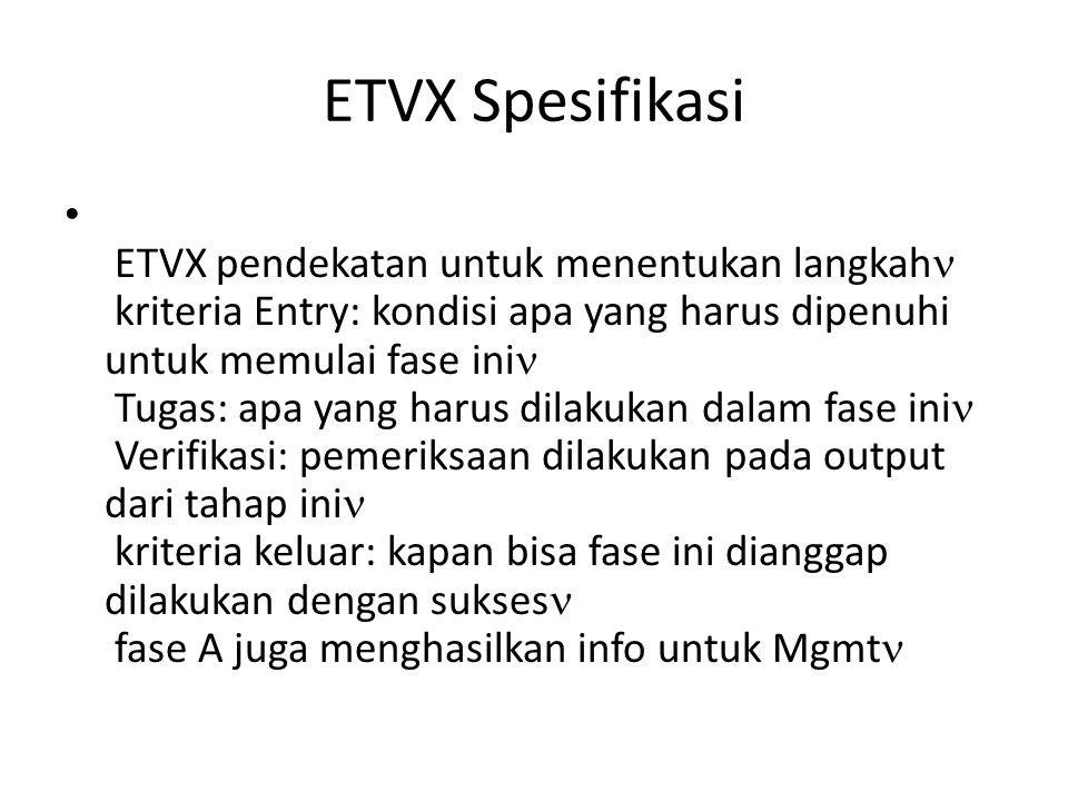 ETVX Spesifikasi