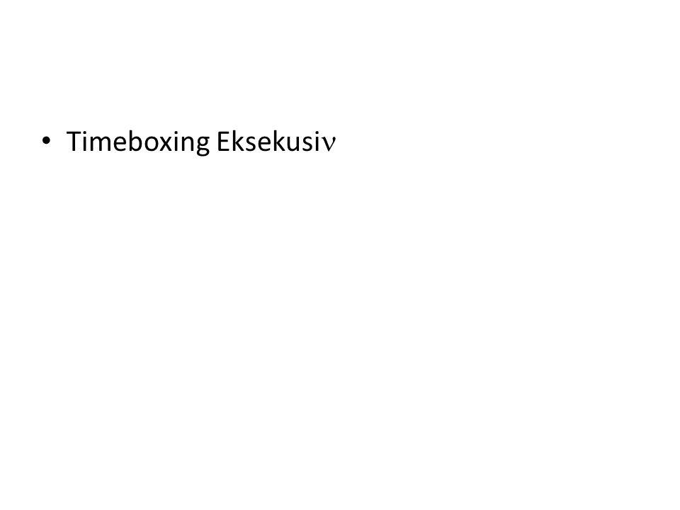 Timeboxing Eksekusi