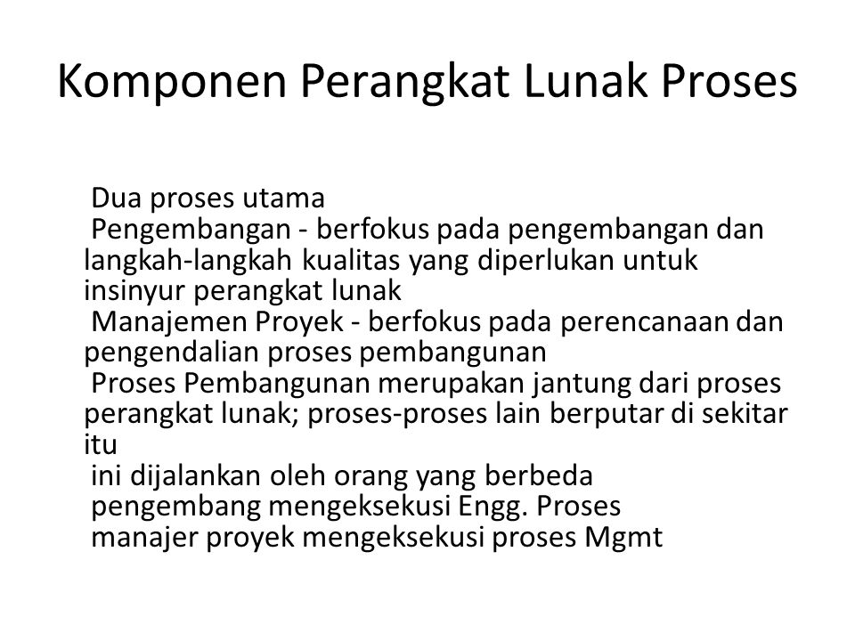 Komponen Perangkat Lunak Proses