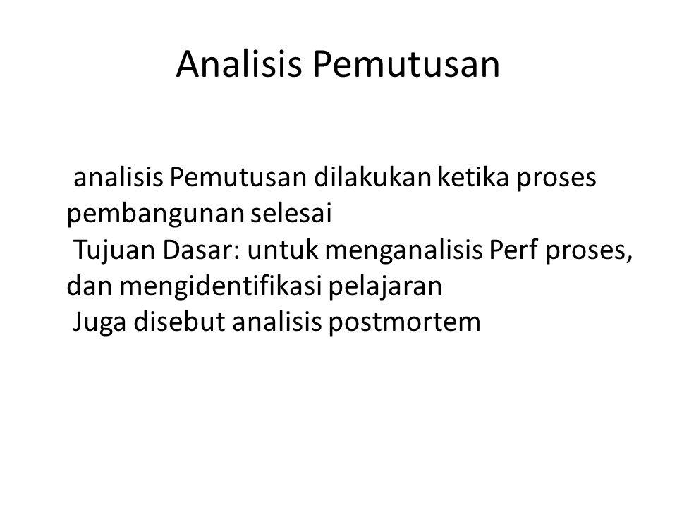 Analisis Pemutusan