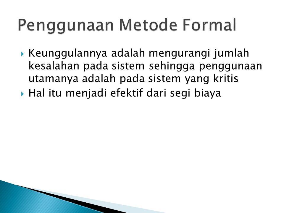 Penggunaan Metode Formal