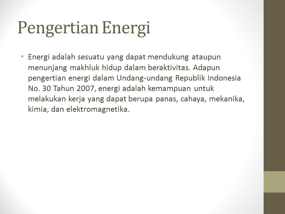 Pengertian Energi