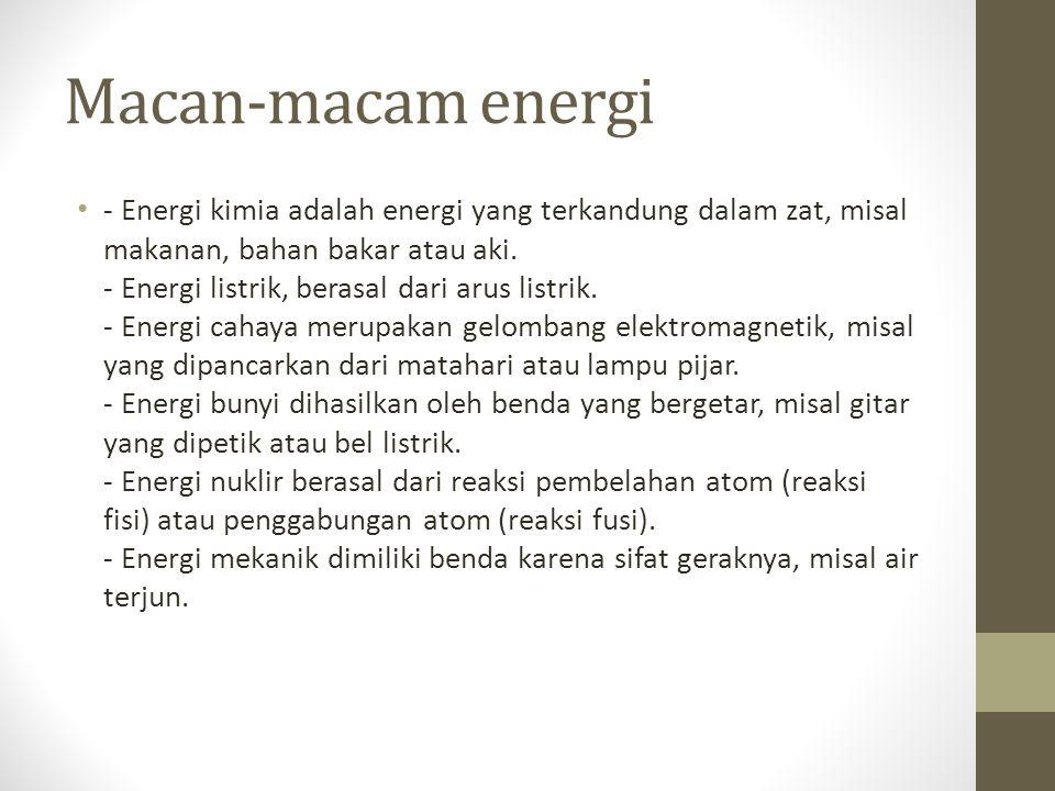 Macan-macam energi
