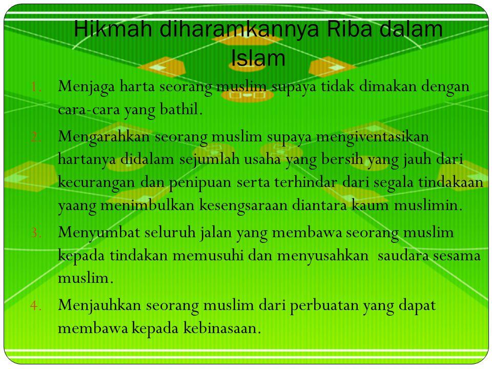 Hikmah diharamkannya Riba dalam Islam