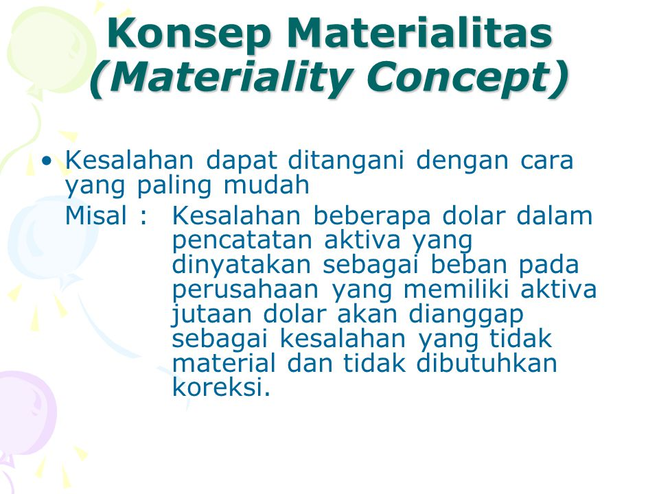 Konsep Materialitas (Materiality Concept)