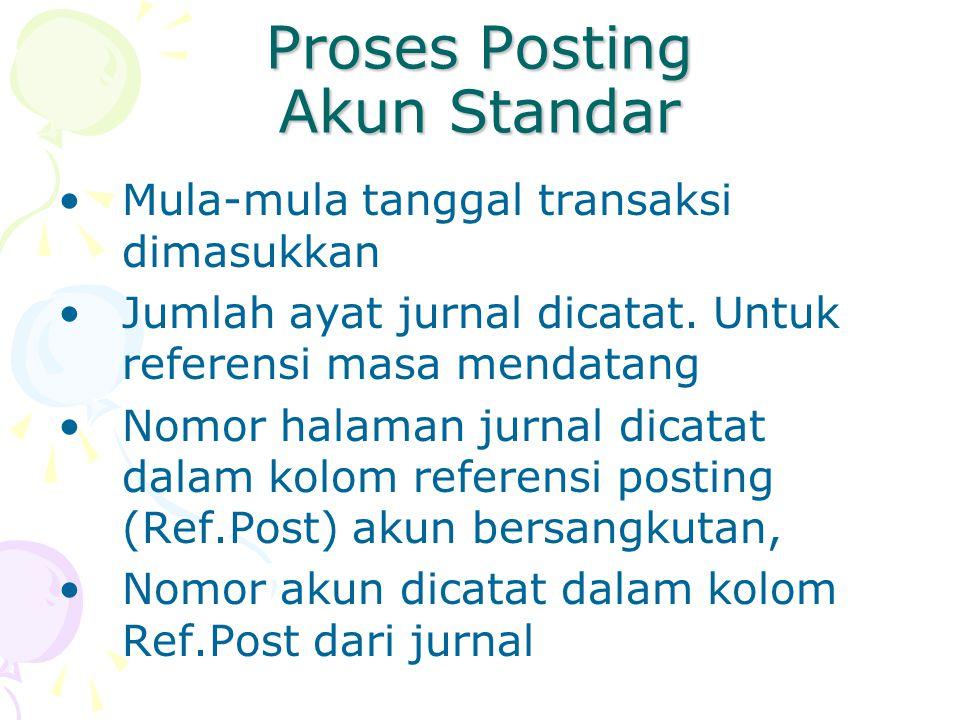 Proses Posting Akun Standar