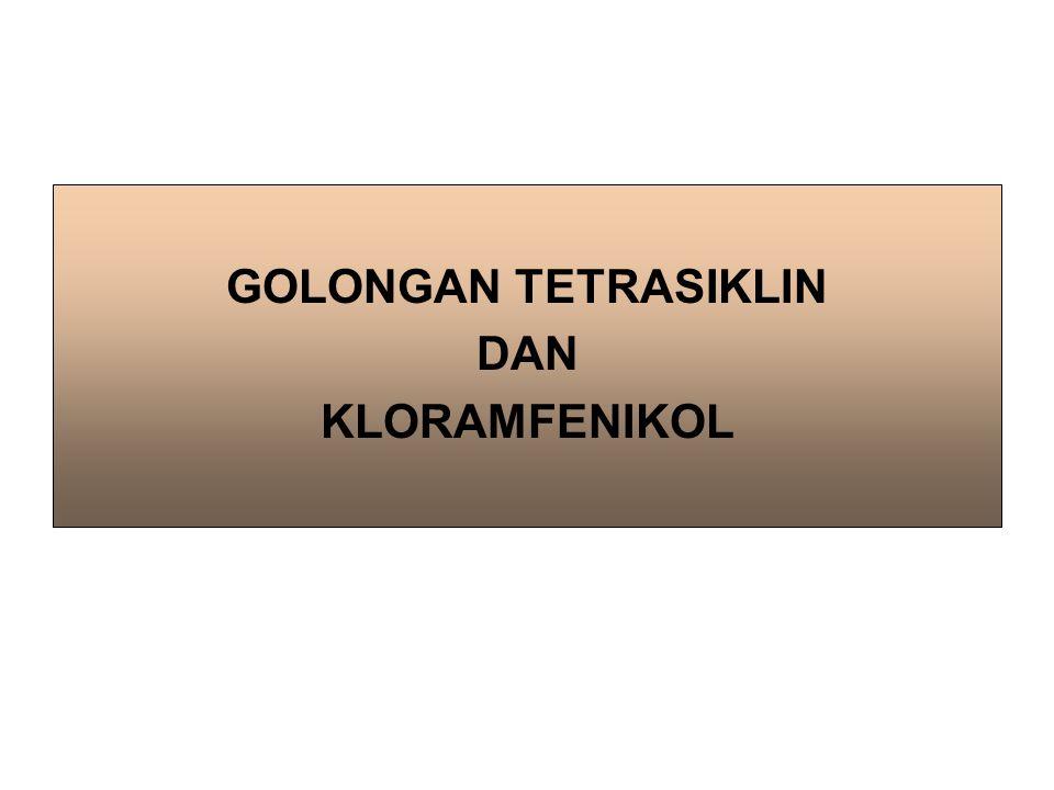 GOLONGAN TETRASIKLIN DAN KLORAMFENIKOL