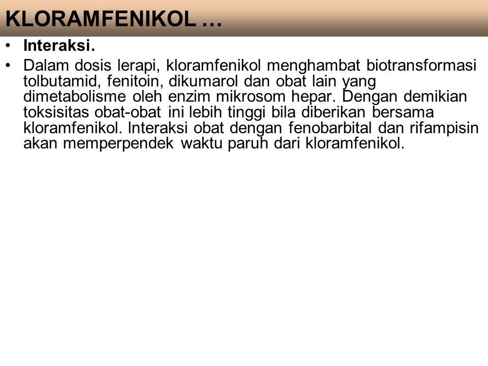 KLORAMFENIKOL … Interaksi.