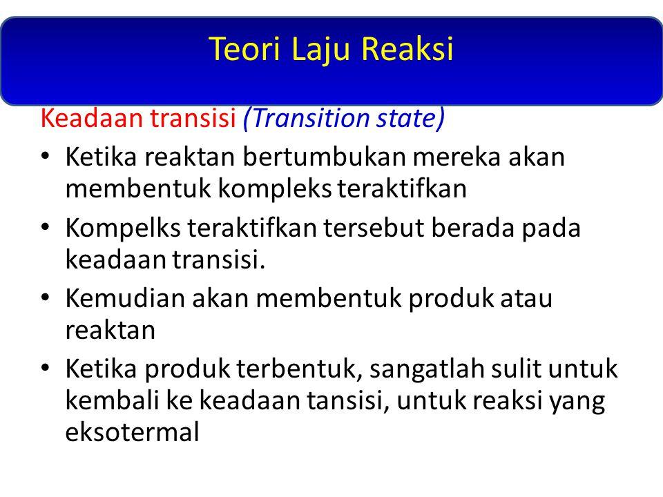Teori Laju Reaksi Keadaan transisi (Transition state)
