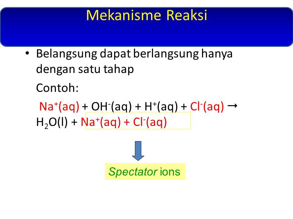 Mekanisme Reaksi Belangsung dapat berlangsung hanya dengan satu tahap