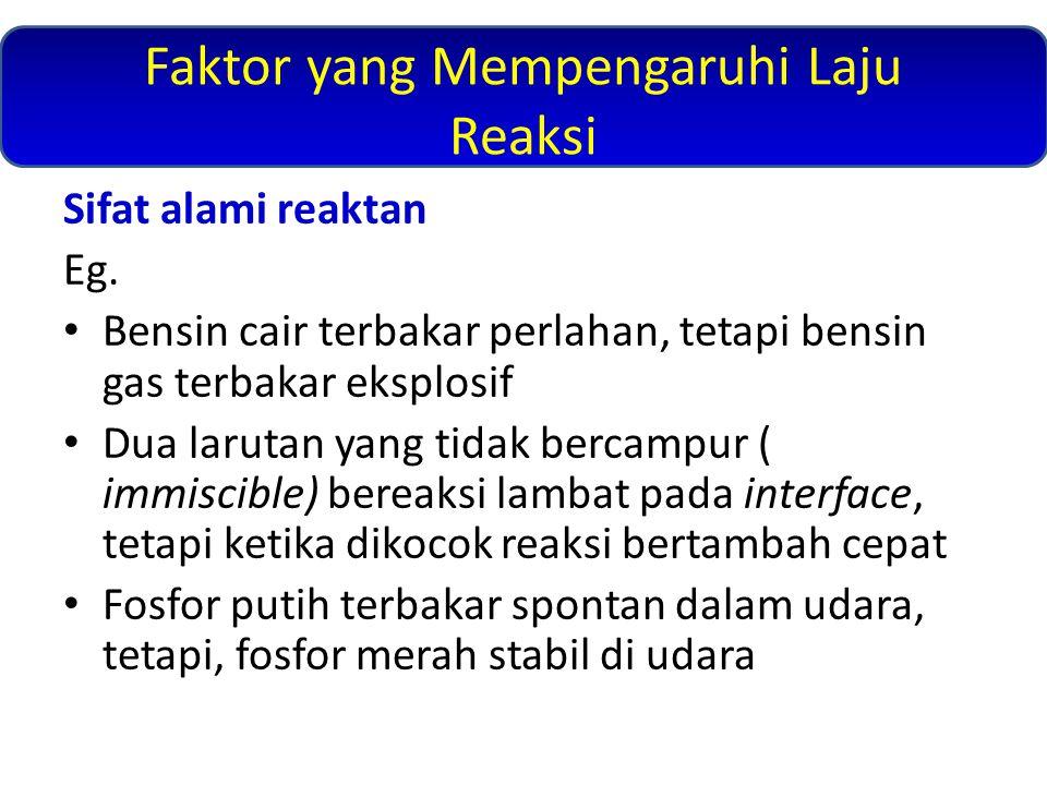 Faktor yang Mempengaruhi Laju Reaksi