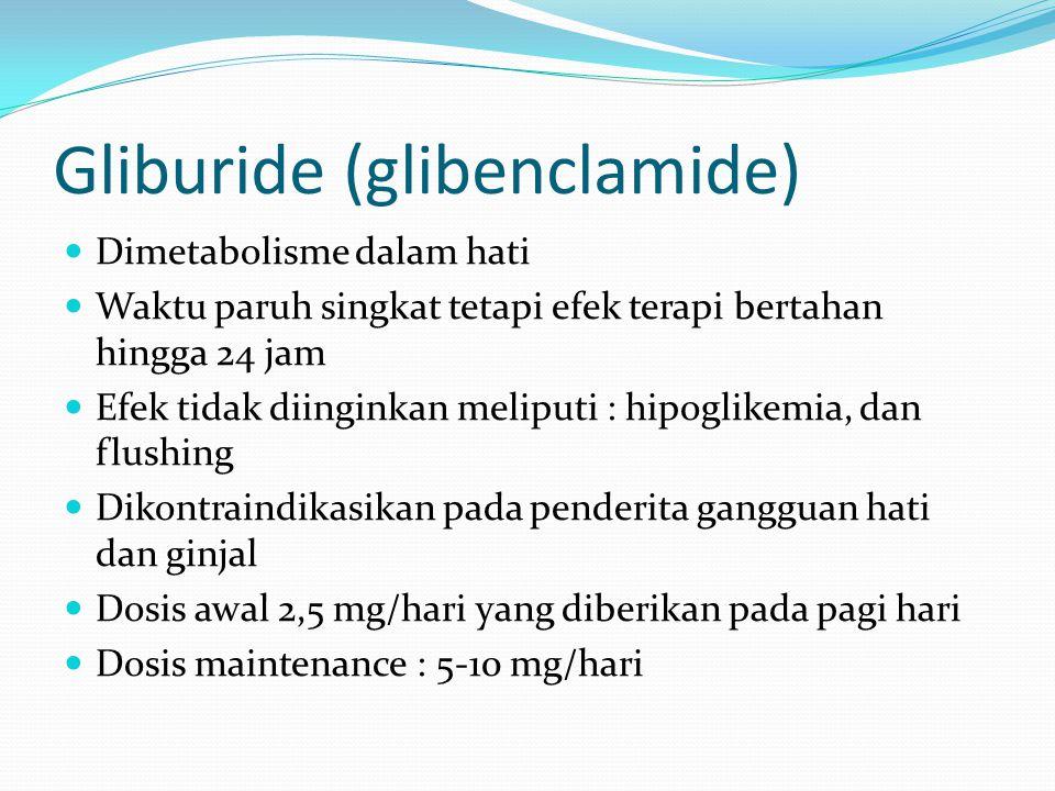 Gliburide (glibenclamide)