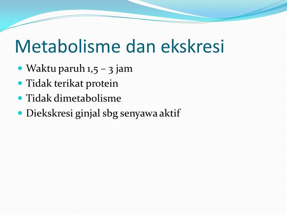 Metabolisme dan ekskresi