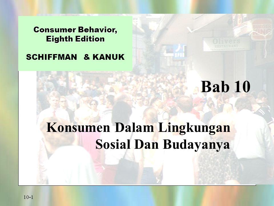 Konsumen Dalam Lingkungan Sosial Dan Budayanya