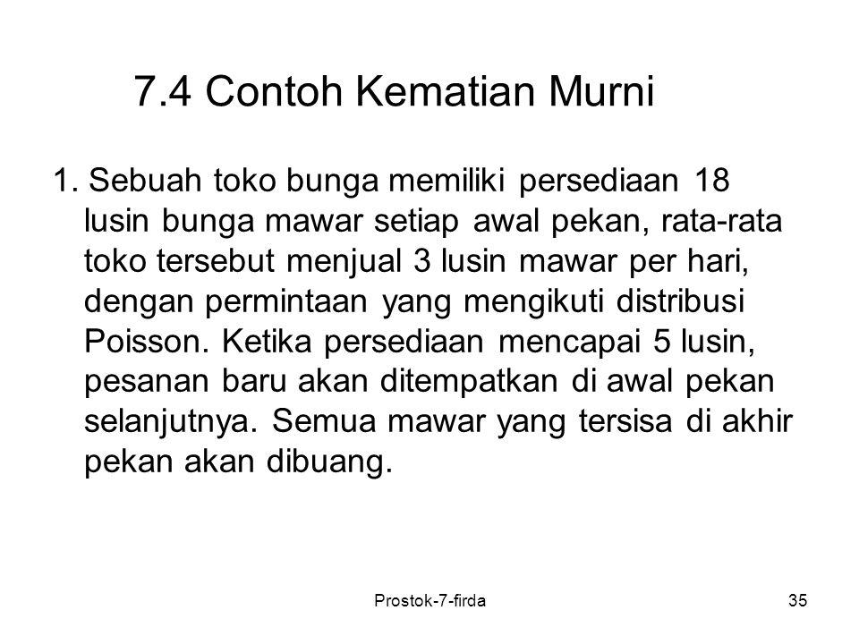 7.4 Contoh Kematian Murni