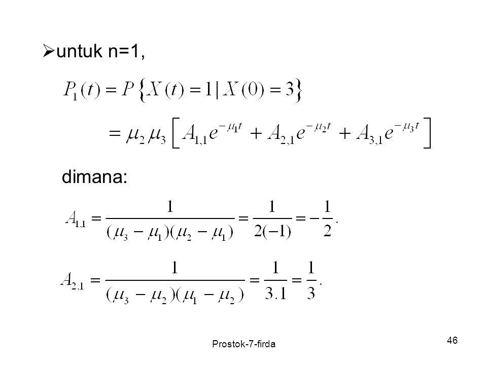 untuk n=1, dimana: Prostok-7-firda