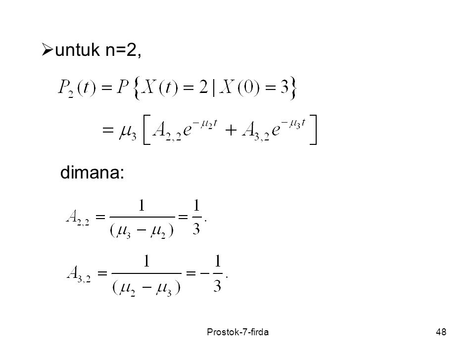 untuk n=2, dimana: Prostok-7-firda